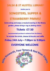 Songsters & Supper 24.07.15