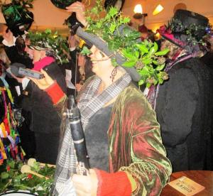 Recording Redruth Wassail at The Oxford